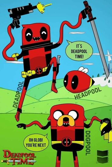Image result for deadpool adventure time