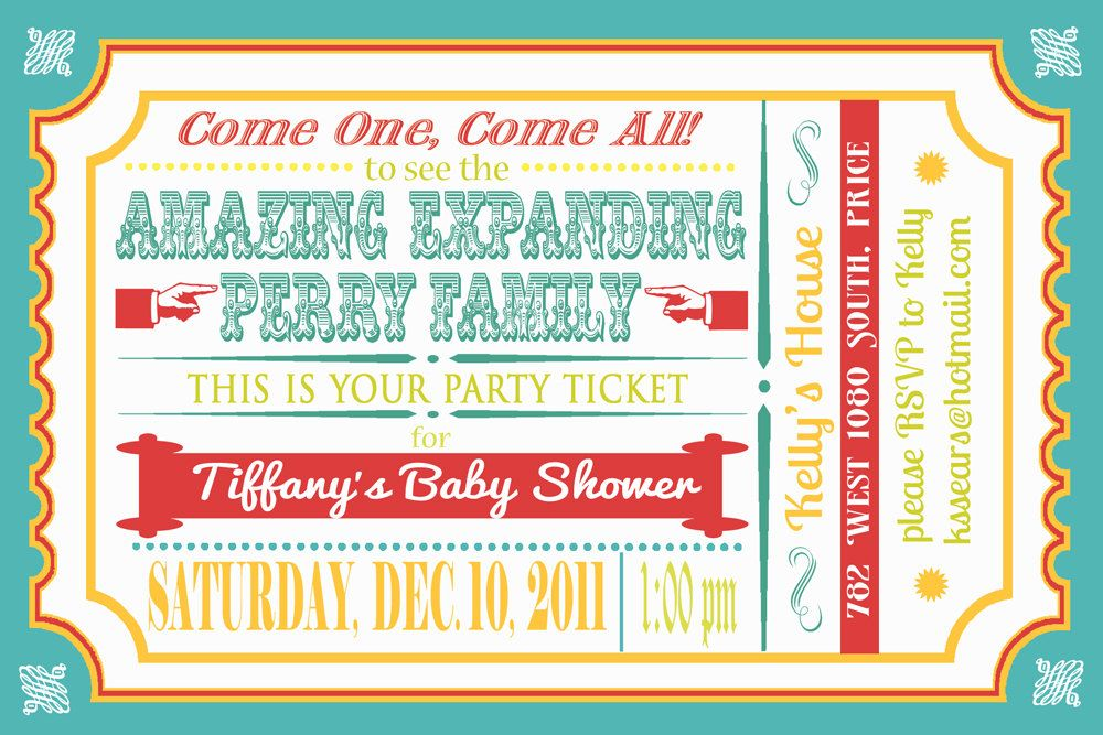 Train or Circus Ticket Invitation for Boy or Girl Birthday - printable ticket invitations