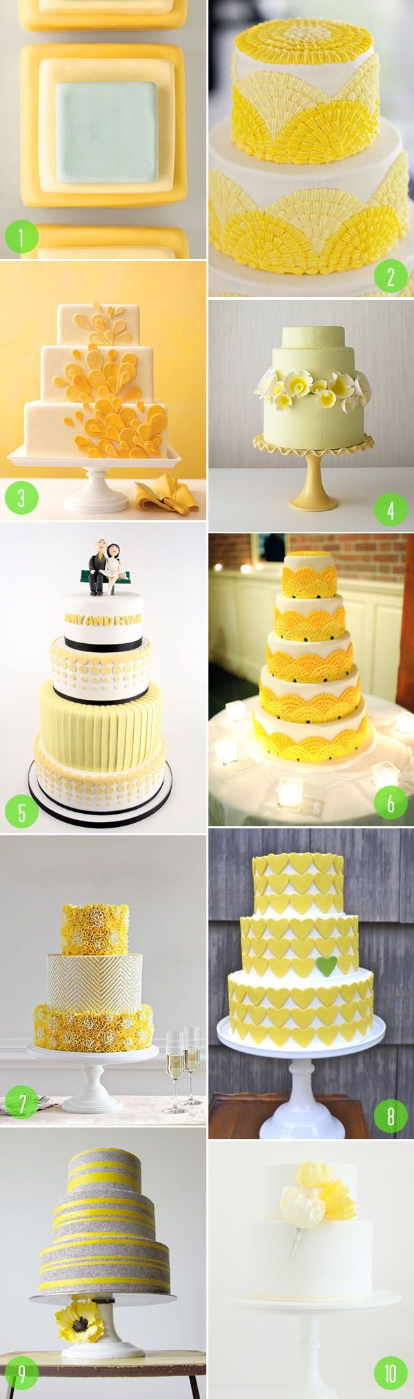 Top 10: Yellow wedding cakes | modern wedding | cakes + toppers ...