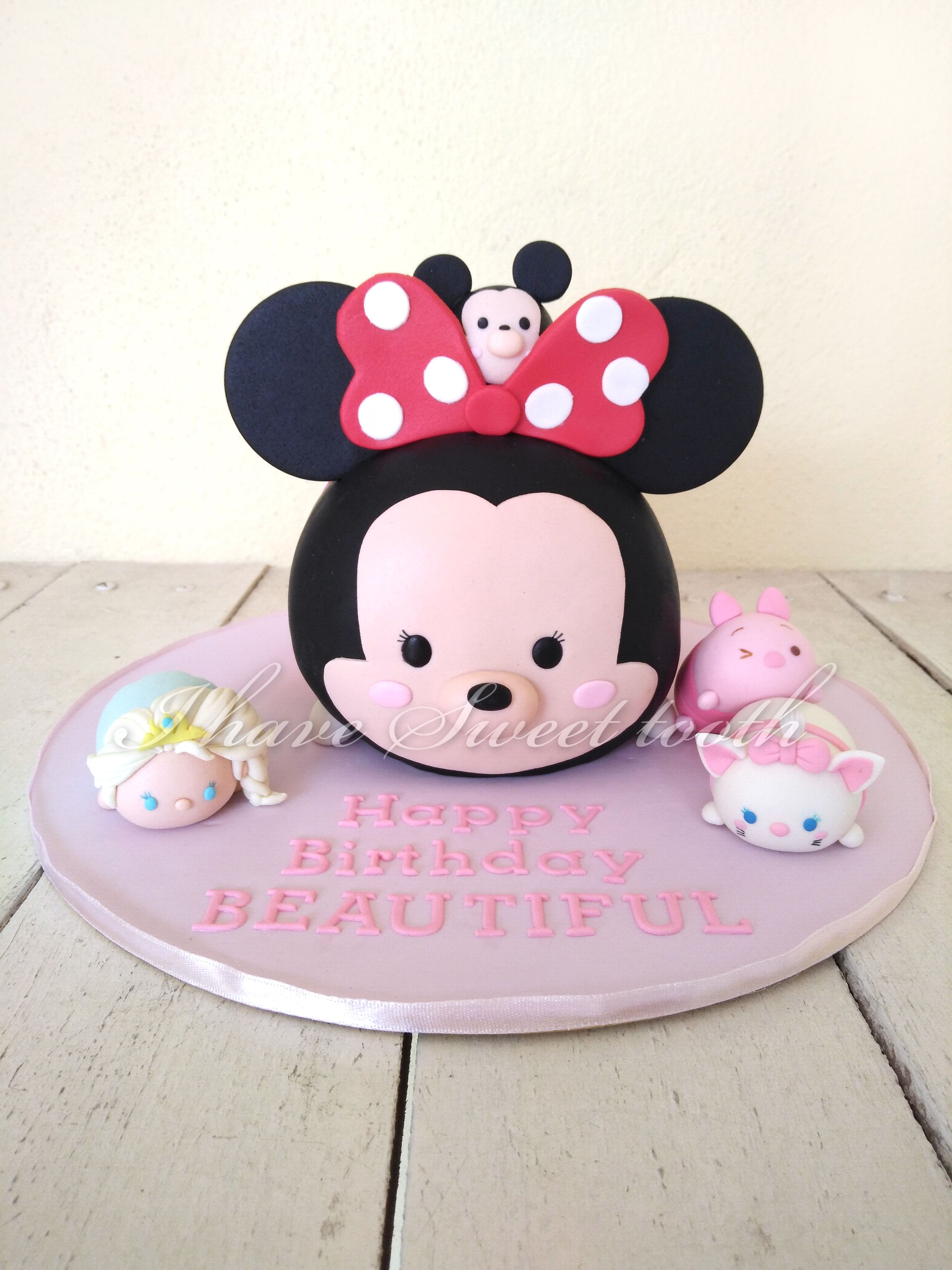 Birthday Party Ideas Tooth Dental Jelsa Tsum 3D Cake Ihavesweettooth Tsumtsum Disney Elsa Minnie Mickey