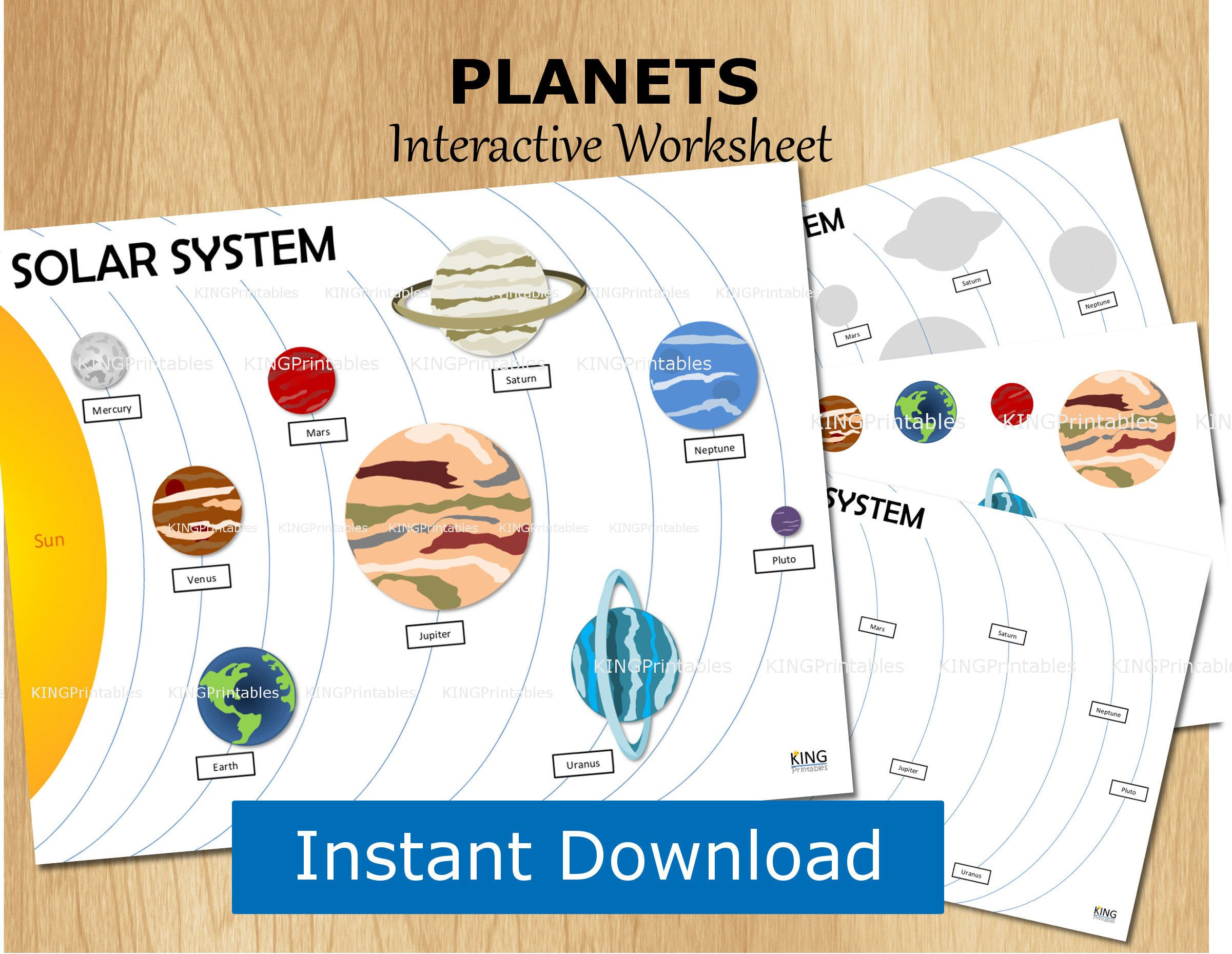 Solar System Printable Kids Activity Learning About