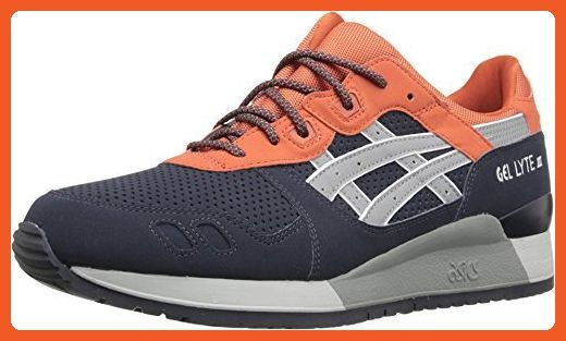 the latest d5806 d38b9 ASICS Tiger Unisex Gel-Lyte¿ III Indian Ink/Mid Grey Sneaker ...
