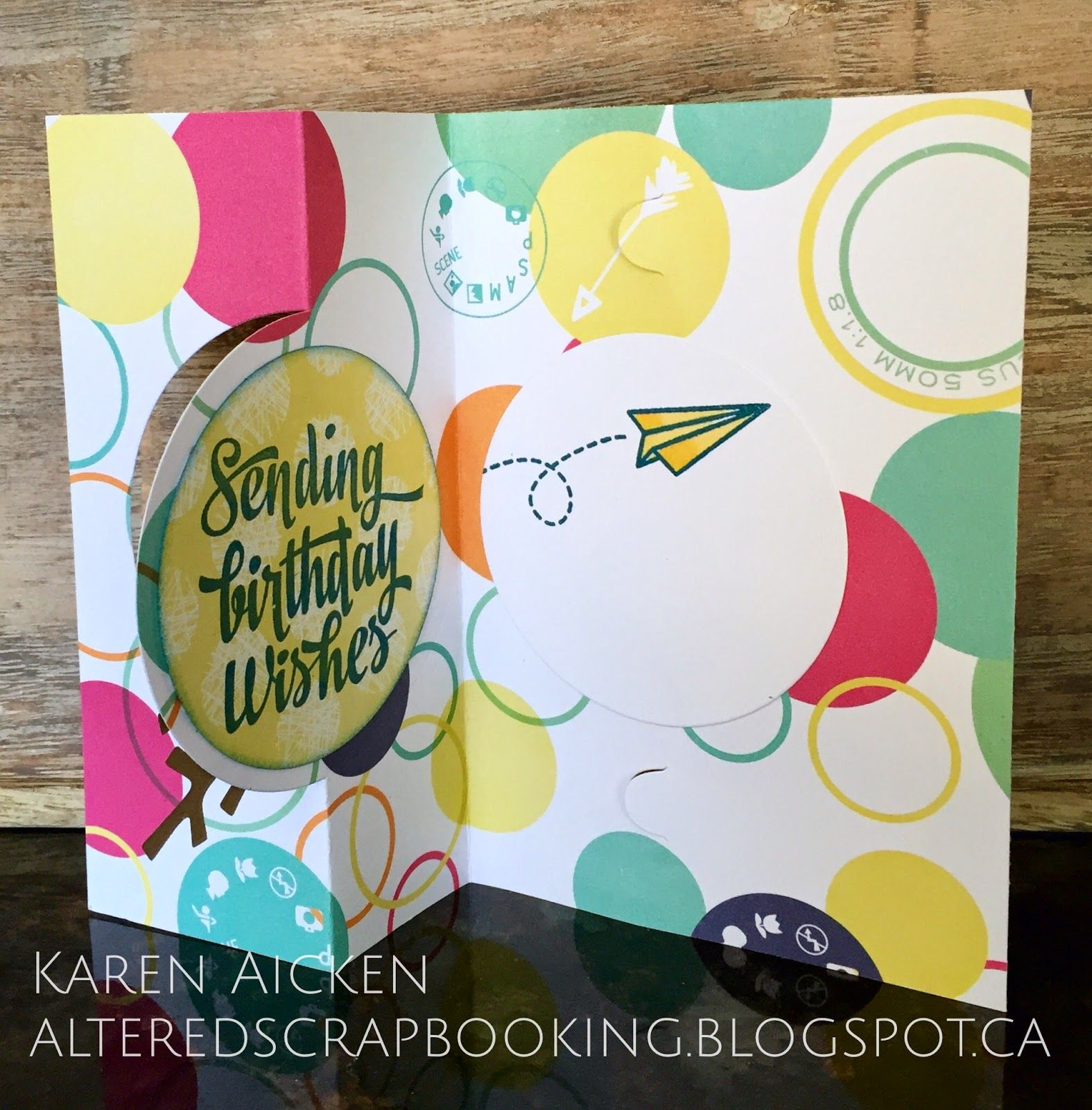 Altered Scrapbooking: Cheerful Owl Pull Card
