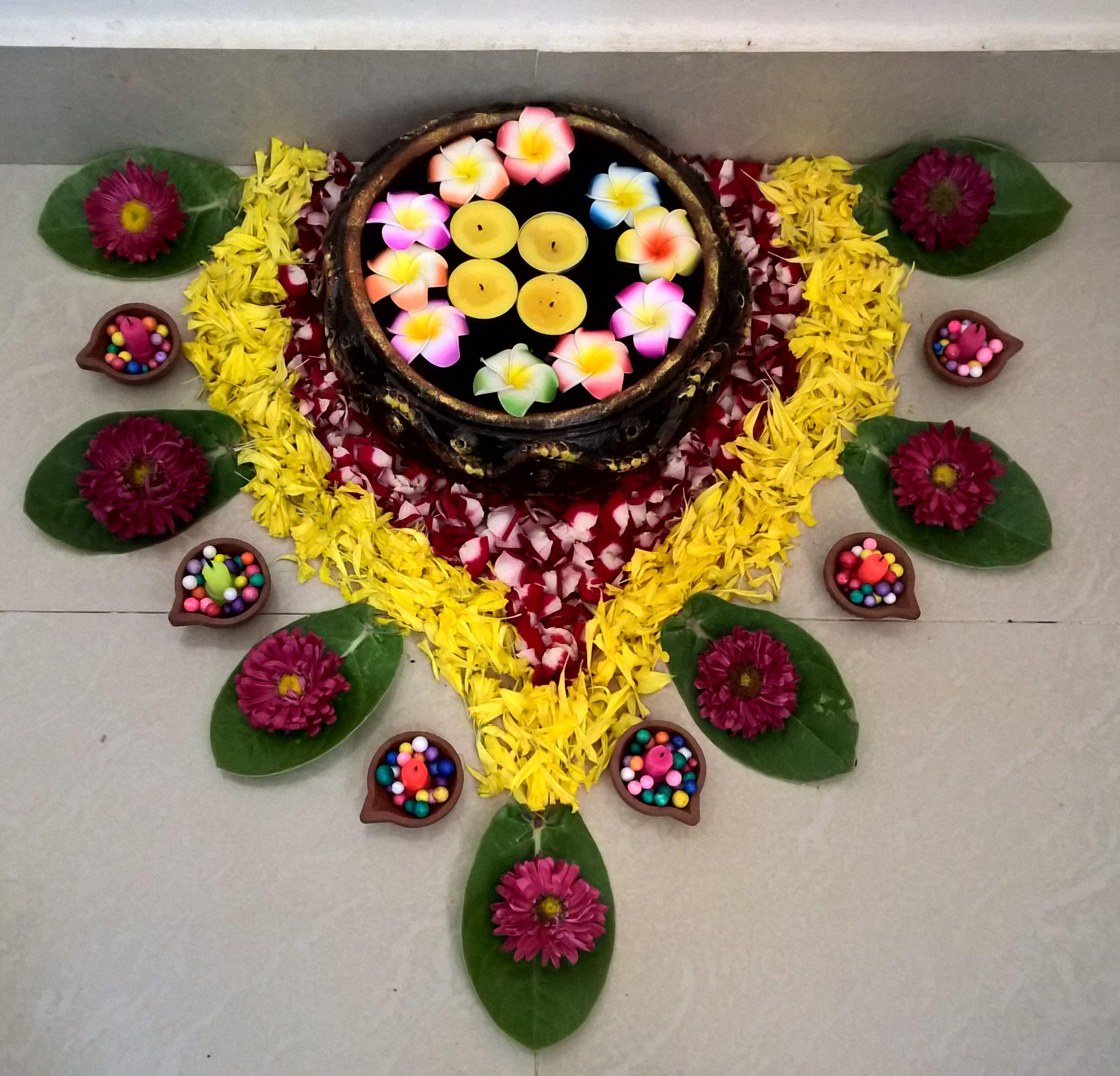 Diwali Flower Design Rangolid Pinterest Diwali Flower Designs