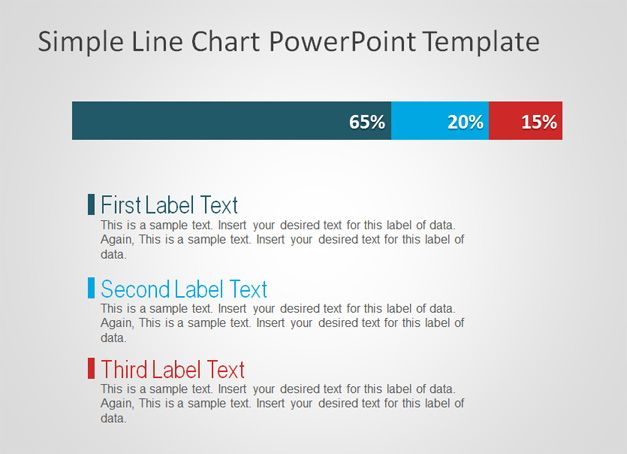 Simple Line Chart Powerpoint Template  Idea    Chart