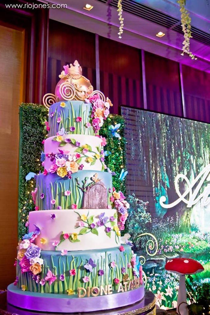 Secret Garden: Fairy Garden Cake From An Enchanted Garden Princess