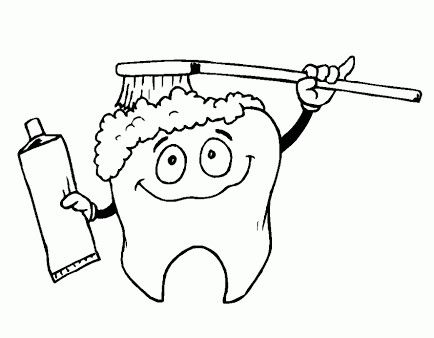 Pin By Rohini On Sablon Coloring Pages Dental Health Preschool Coloring Pages
