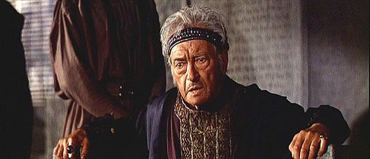 "Claude Rains - playing King Herod in ""The Greatest Story Ever Told."" 