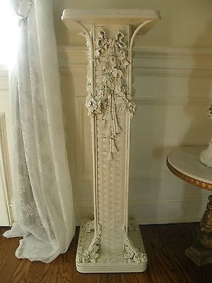 Antique Barbola Pedestal Shabby Chic French Gorgeous Bows