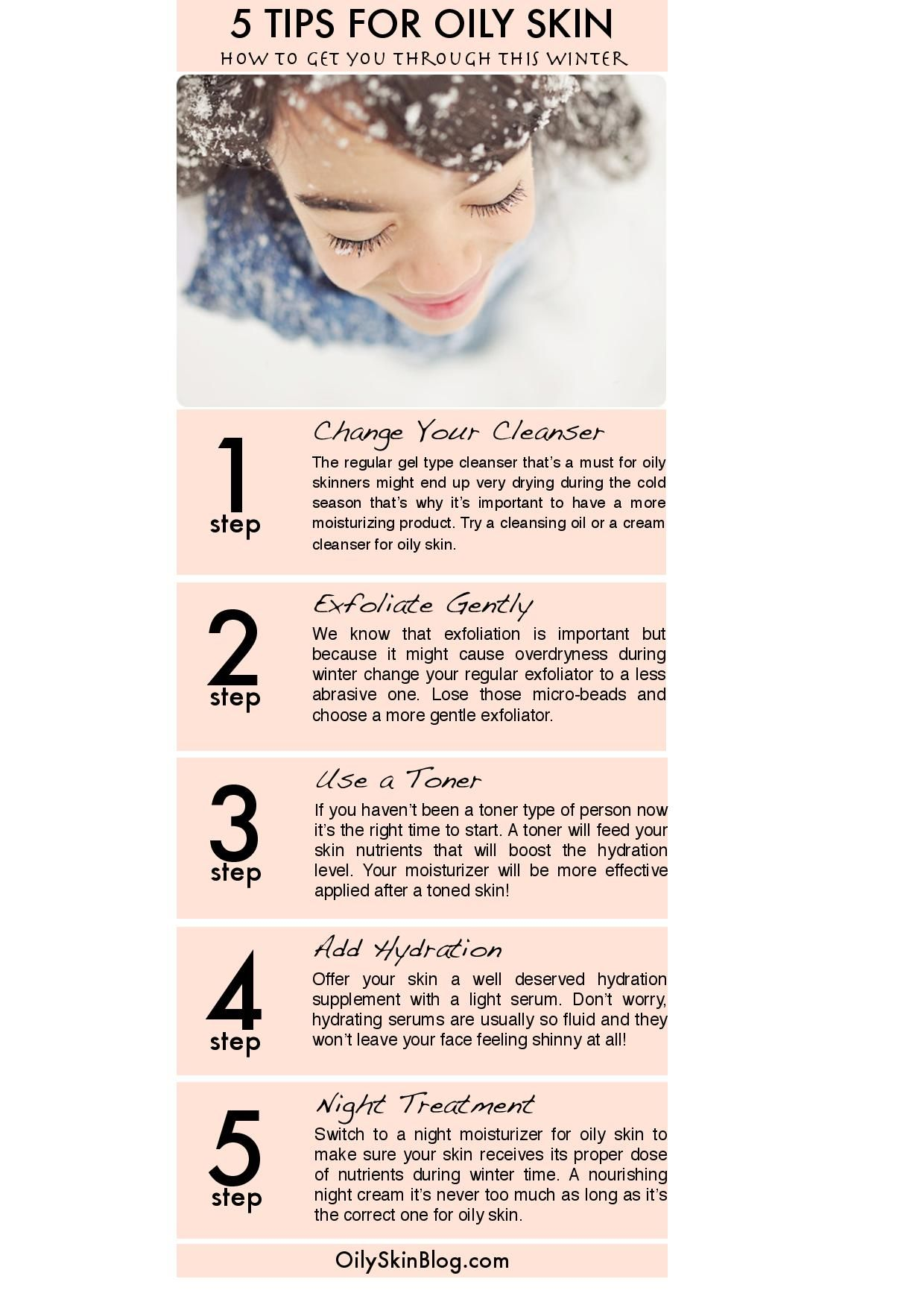 5 Tips For Oily Skin Tips For Oily Skin Oily Skin Skin Tips