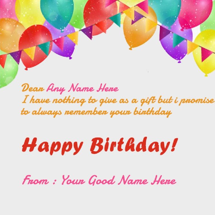 Happy Birthday Invitation Card With Name And Photo Editor