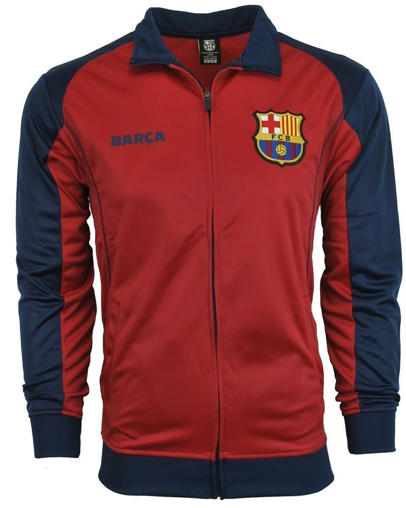 528219f00ff Fc Barcelona Jacket Track Soccer Adult Sizes S , M , L , XL #Rhinox # FCBarcelona