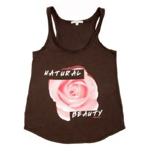 TEALA - Natural Beauty... Black Tank Top