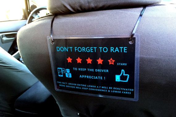 uber lyft 5 star feedback sign decal display sticker logo for rideshare auto driver rideshares. Black Bedroom Furniture Sets. Home Design Ideas