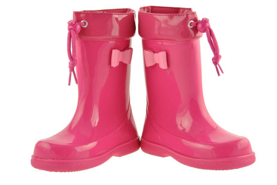 Botas De Agua De Color Fuxia Decoradas Con Lacito De Charol Botas De Agua Charol Zapatos Hombre