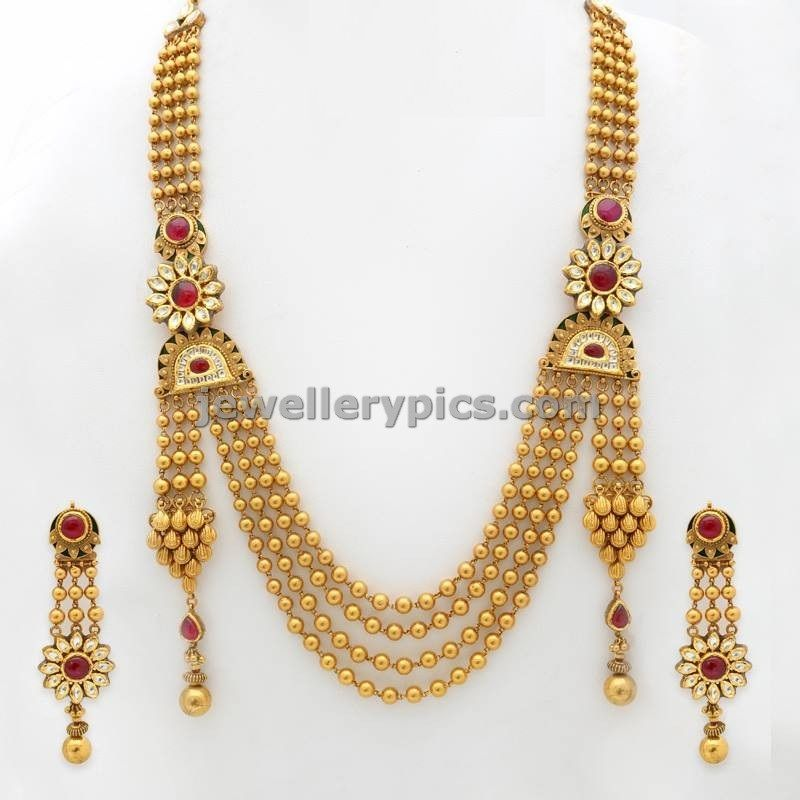 gold latest premraj sets india south designs yellow necklace model jewels
