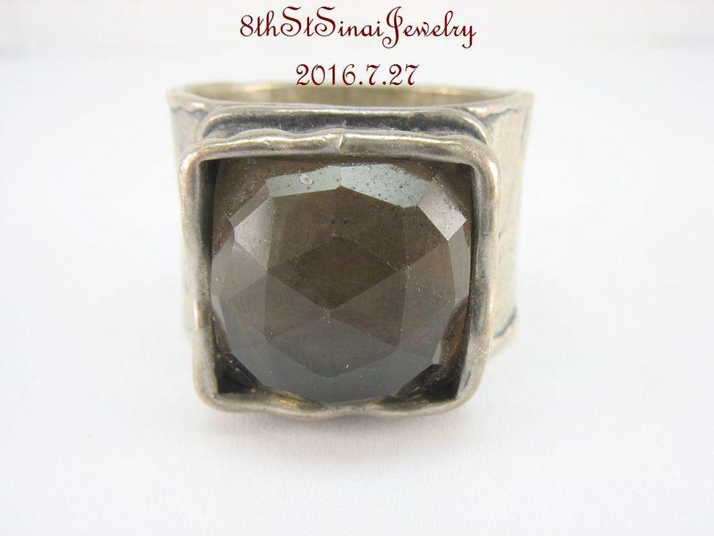 R1453 Retired Silpada Wide Sterling Silver 925 Smoky Quartz Ring Size 10 #Silpada #Statement #AnniversaryBirthdayEveryday
