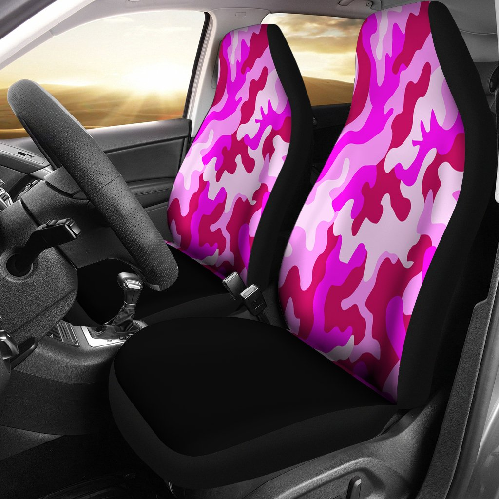 Pink Camouflage Custom Car Seat Covers Pink Camouflage