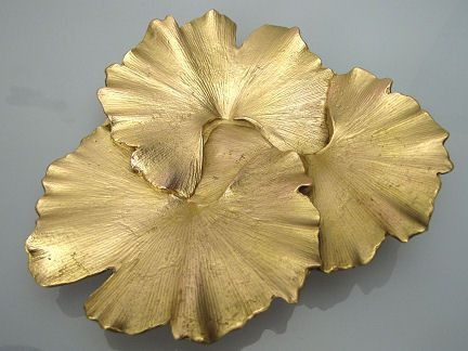 Michael Michaud  Table Art  Ginkgo Leaf Dish  Wohnen Michael Michaud  Table Art  Ginkgo Leaf Dish  Wohnen