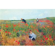 Poppies by Mary Cassatt Painting Print on Canvas