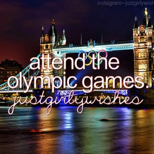 Bucket list attend the Olympic games   Bucket list, Tower ...