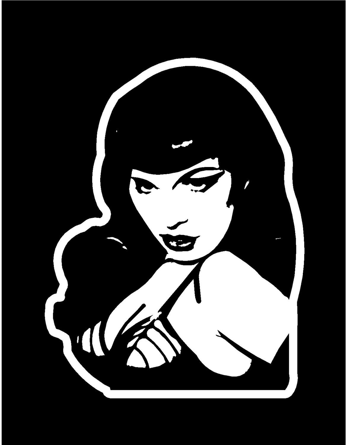 Bettie Page Decal Windows Cars Trucks Tailgates Laptop Bumper