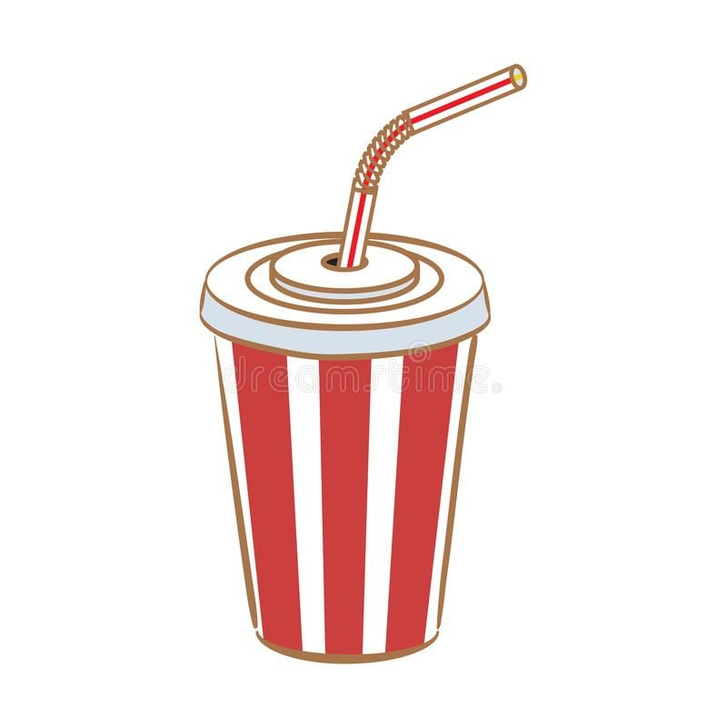Striped Cup Soda With Straw Stock Vector Illustration Of Industry Recycling 142514051 Coffee Cup Design Illustration Vector Illustration