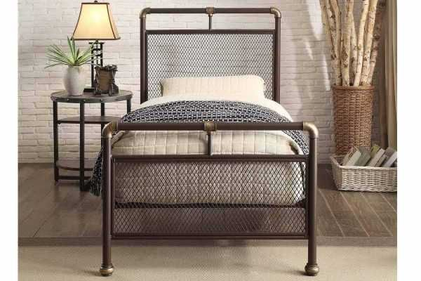 Lichfield Antiqued Copper Victorian Style Bed Frame