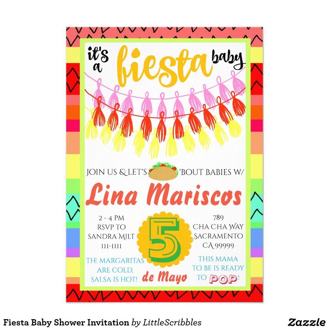 Fiesta Baby Shower Invitation, baby shower invitation, fiesta baby ...