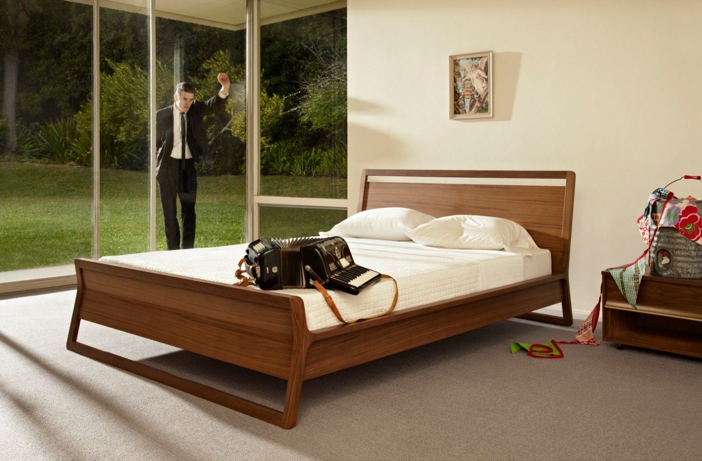 Woodrow Queen Bed Modern Bed Modern Bed Frame Modern Wood Bed