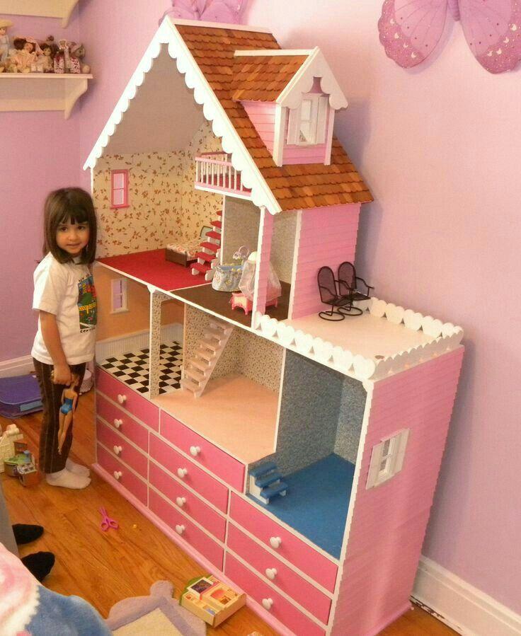 Casa De Barbie Casa De Munecas Doll House Cuarto Juegos