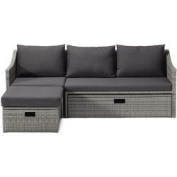Reduzierte Polyrattan Sessel Garten Ausziehsofa Polyrattan Tchibotchibo Smallroomdesignsbudget In 2020 Outdoor Couch Outdoor Wicker Furniture Rattan Armchair