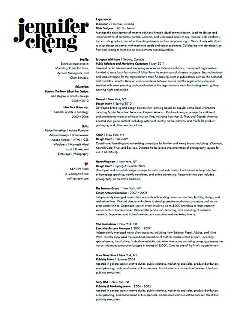 Graphic designer resume sample and tips graphic design
