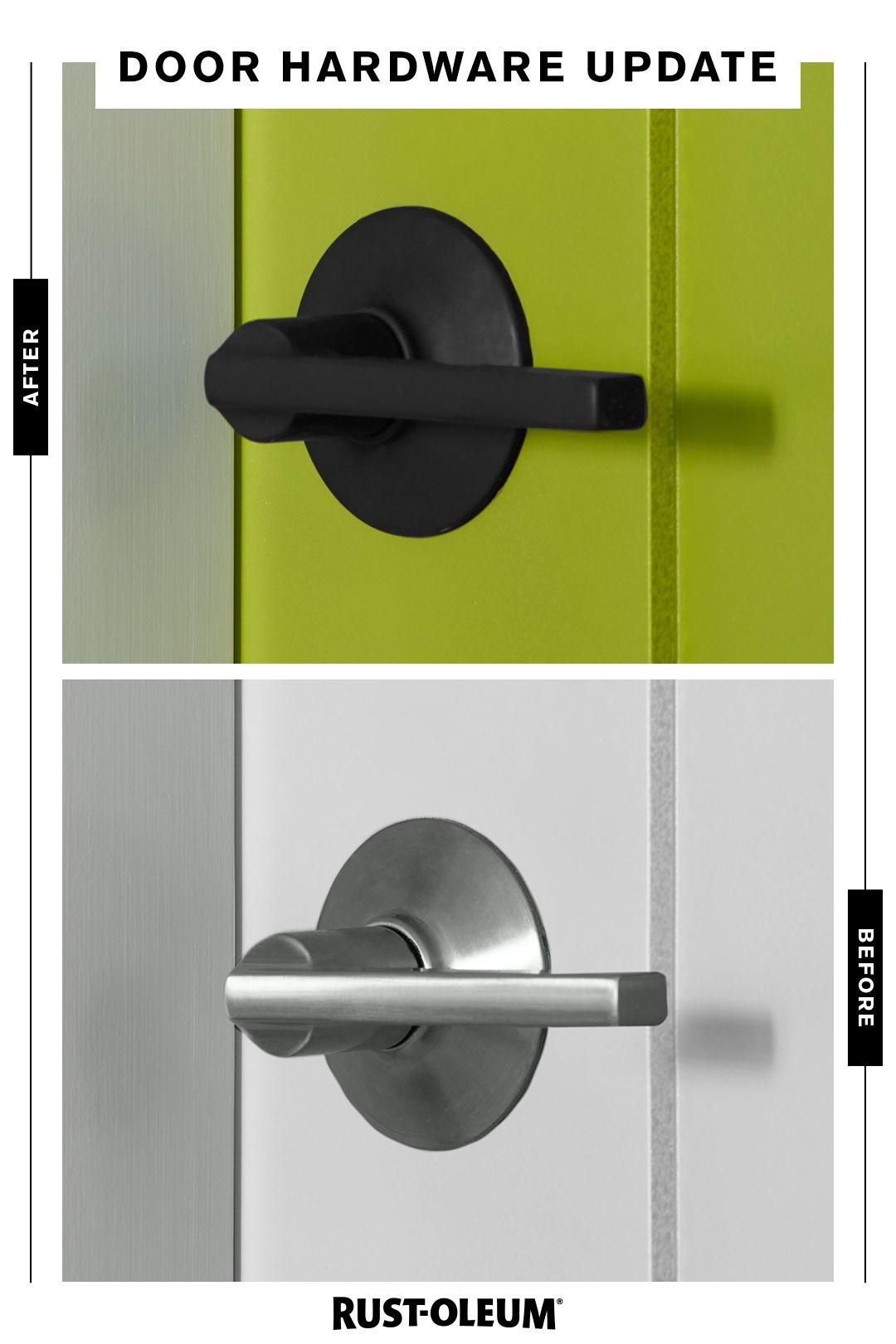 Door Handles Are Officially Handled With A Fresh Coat Of Rust Oleum Spray Paint A Small Change Can Complete Door Handles Door Handle Diy Home Improvement Cast
