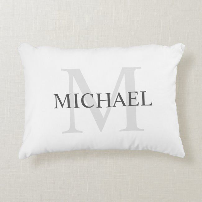 Classic Personalized Monogram and Name Accent Pillow