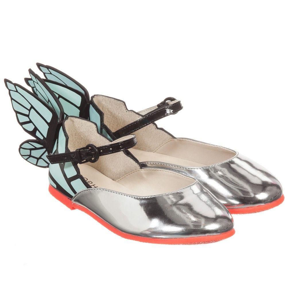 07465ee4413f5 Girls Silver Butterfly  Chiara  Shoes