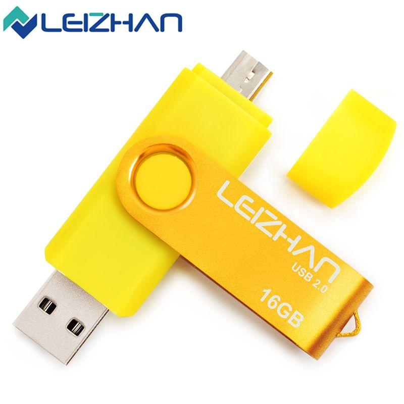 2017 La unidad flash usb OTG Dual USB 2.0 pen drive regalo Usb stick 4 GB 8 GB 16 GB 32 GB 64 GB memory stick pendrive u Móvil disco