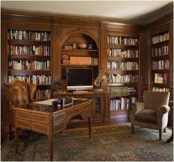 wood office library design int rieur pinterest avancer maison fantaisiste et bois. Black Bedroom Furniture Sets. Home Design Ideas