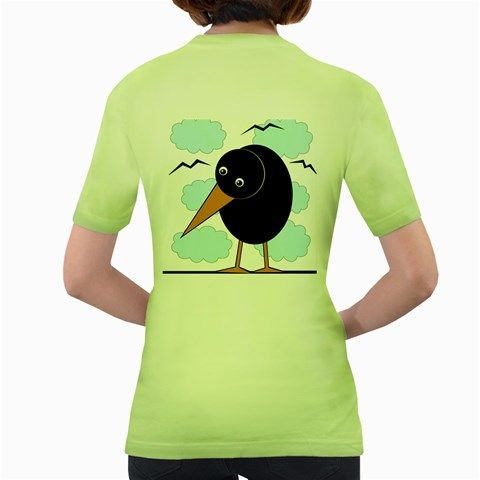 Black+raven+Women's+Green+T-Shirt