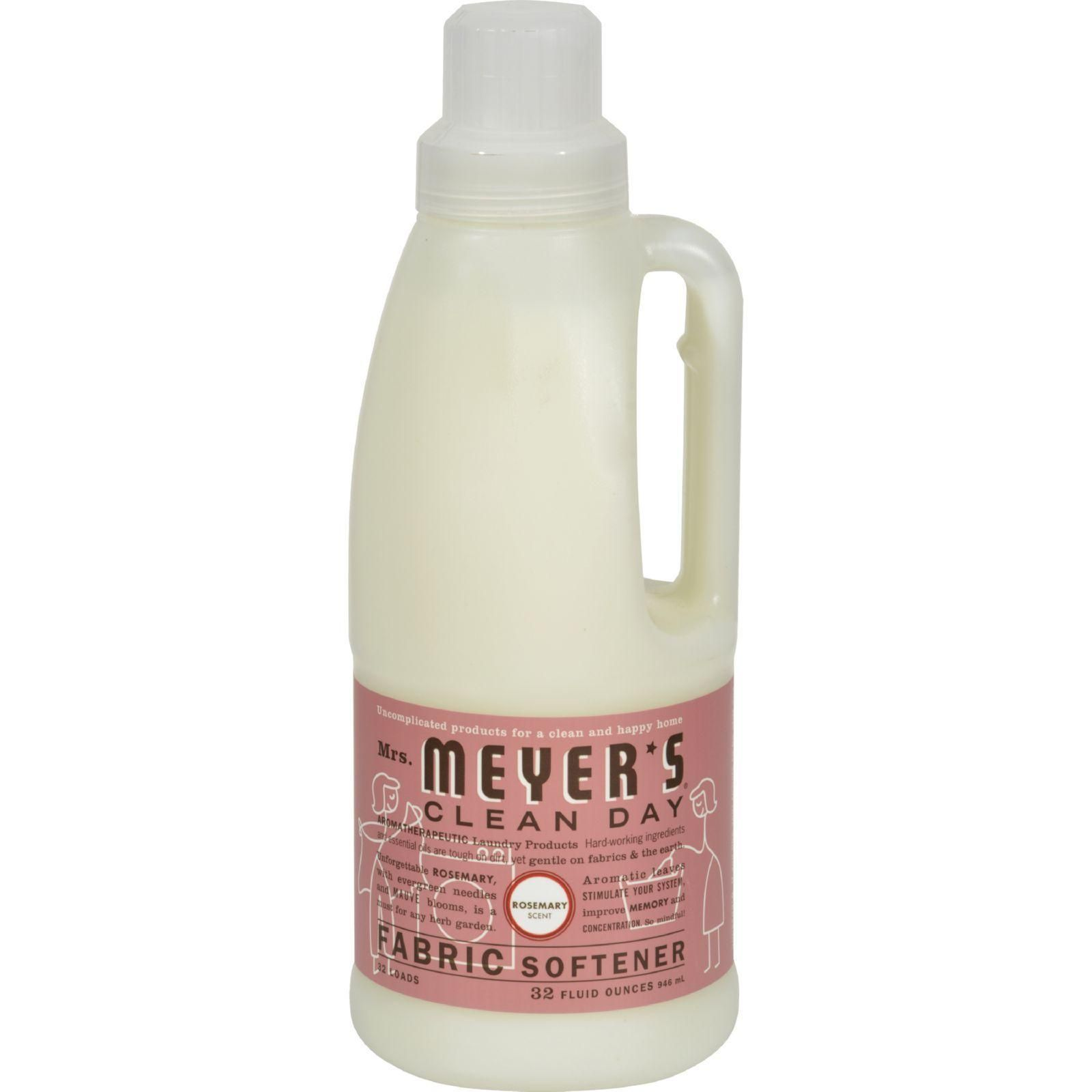 Mrs Meyer S Clean Day Rosemary Fabric Softener Reduces Static Makes Ironing Easier And Softening Clothing Fabric Softener Cleaning Day Liquid Fabric Softener