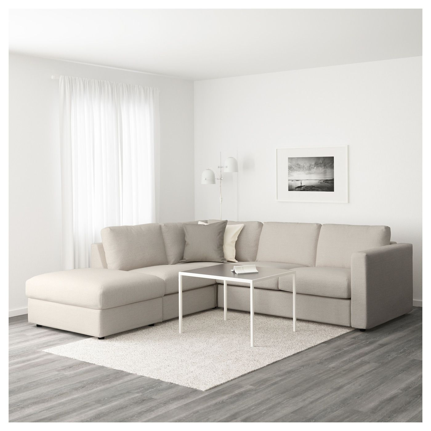 Vimle Sectional 4 Seat Corner With Open End Gunnared Beige