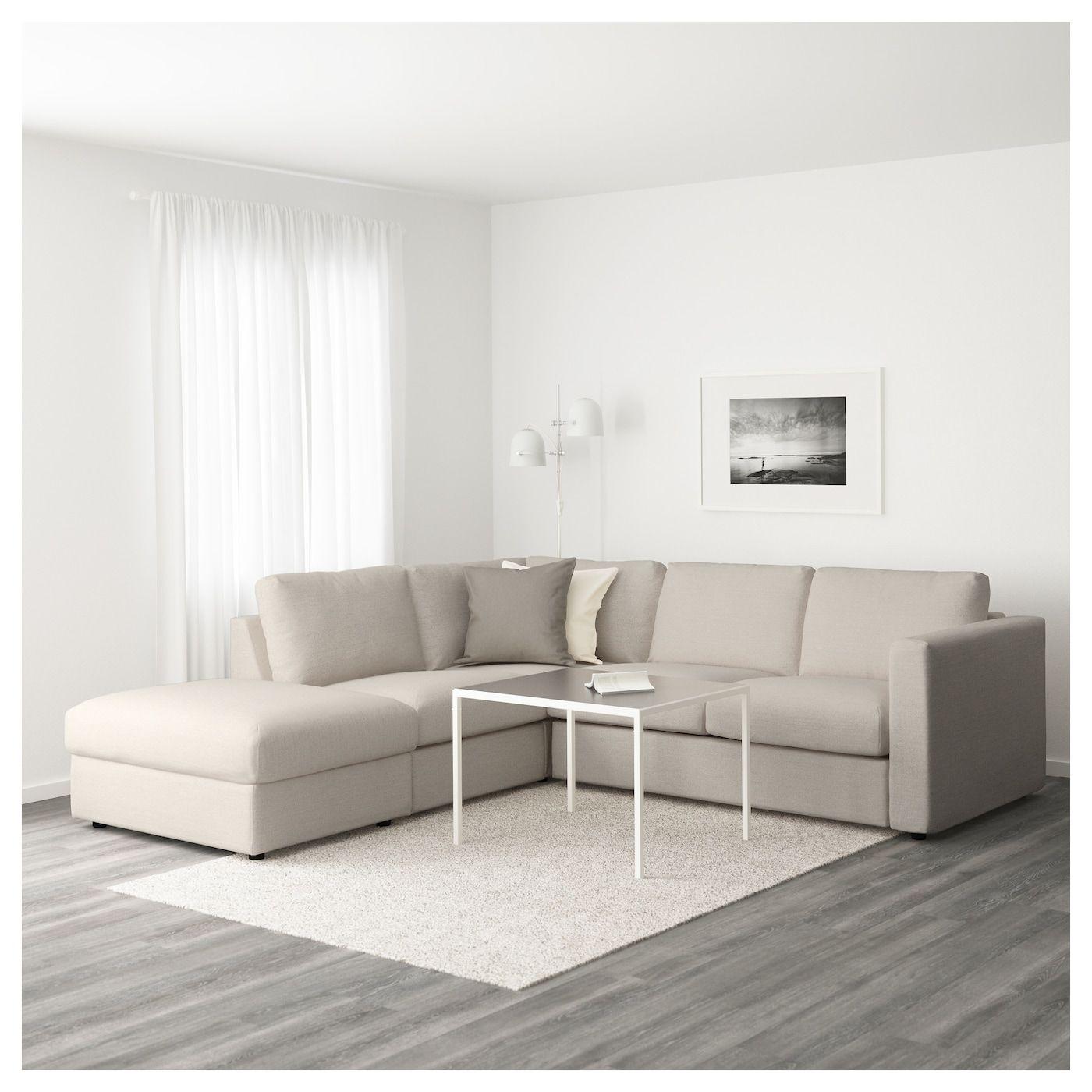 Vimle Sectional 4 Seat Corner With Open End Gunnared Beige Cozy Sofa Ikea Sofa Ikea Vimle