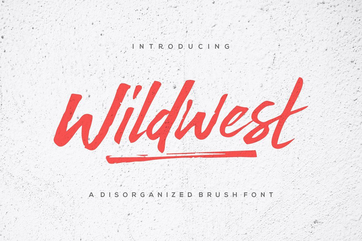 Wildwest Brush Font Brush Fonts Free Lettering