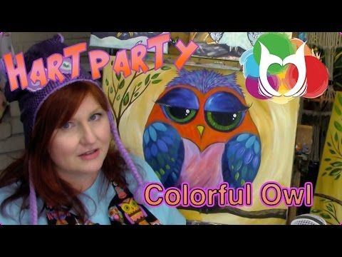Colorful Owl Painting Lesson For Beginners A Fun Online