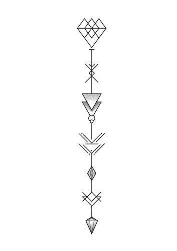 Pin De Sara Milena En Sara Tatuaje Geométrico Tatuajes Dee Flecha