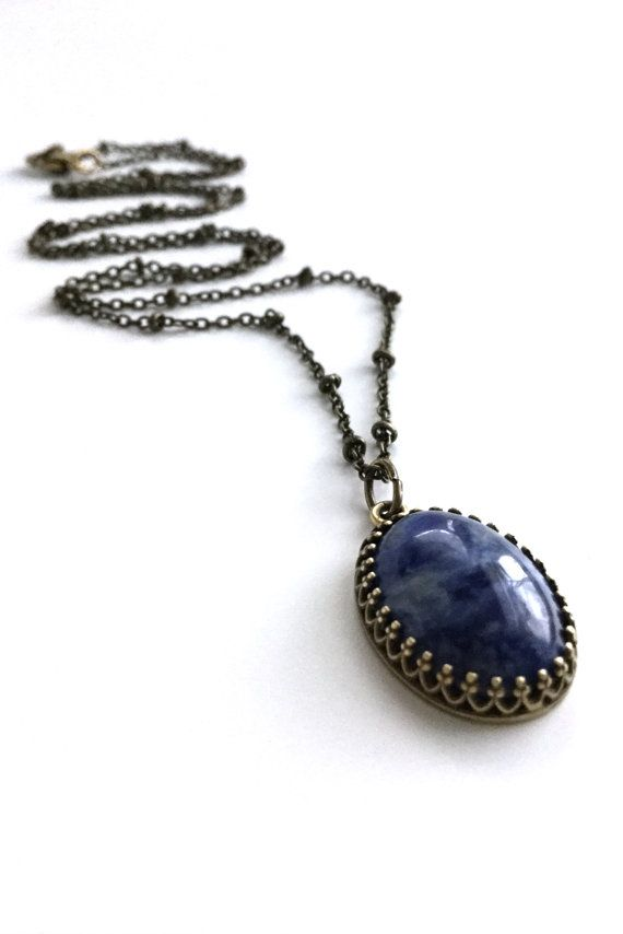 silver link necklace shop collection necklaces hammered sterling beadage modern sodalite chain navy