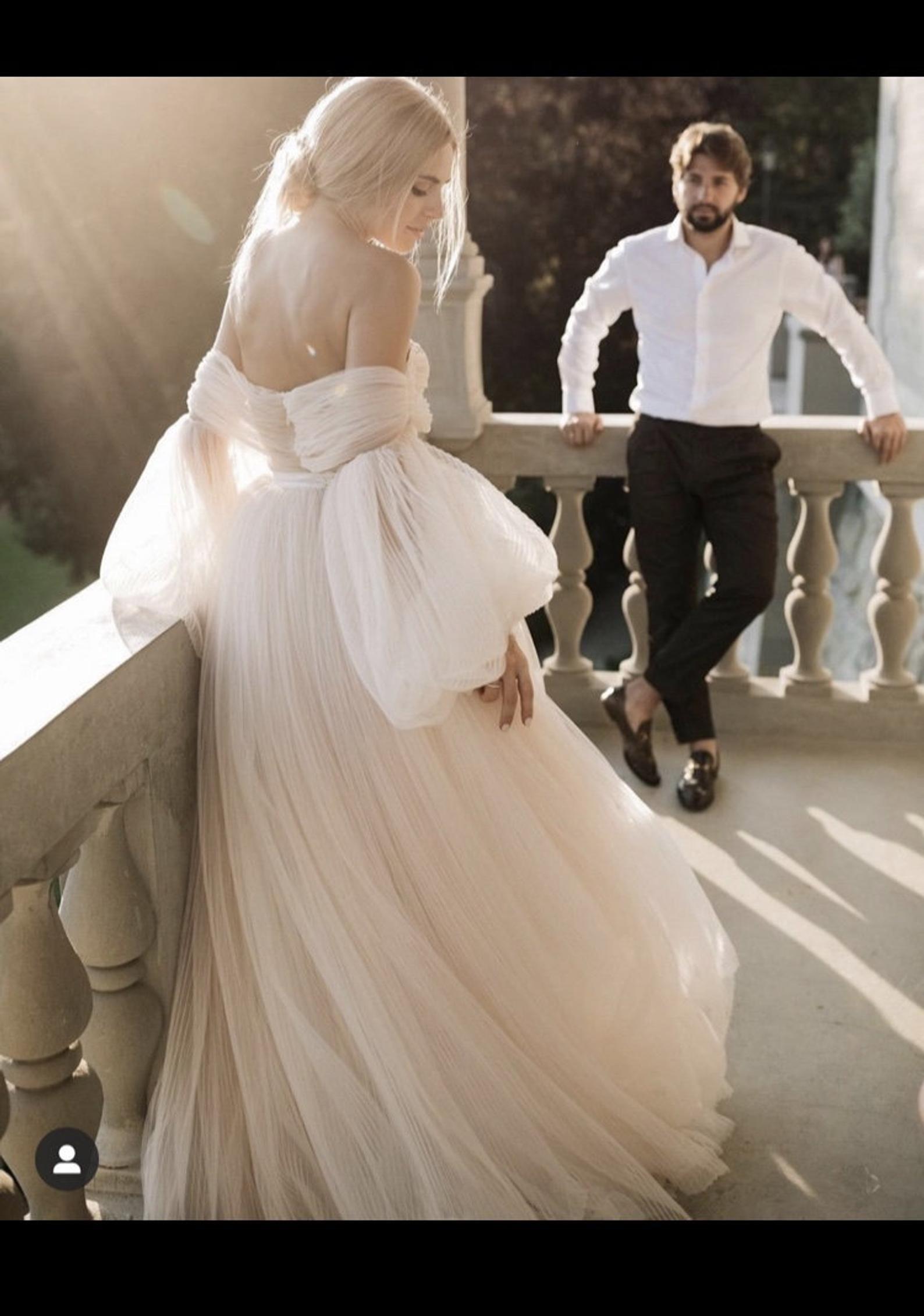 Brand New Ivory Cream Wedding Dress Uk Size 8 Etsy In 2020 Wedding Dresses Uk Non White Wedding Dresses Off Shoulder Wedding Dress