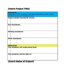 20 Project Based Lesson Plan Template in 2020 | Lesson ...