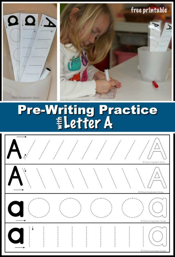 Prewriting Practice With Letter A Preschool Pinterest