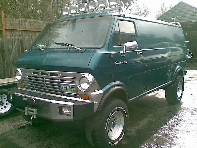1974 Ford Econoline E 300 Quadravan Whoa This Thing Is A